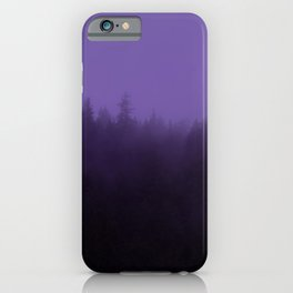 Licorice Forest with Ultra_Violet Fog, Alaska iPhone Case