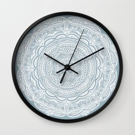 Dedication to Lucy (gray-blue) Wall Clock