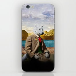 Mr. Wolf Relaxing at the Lake iPhone Skin