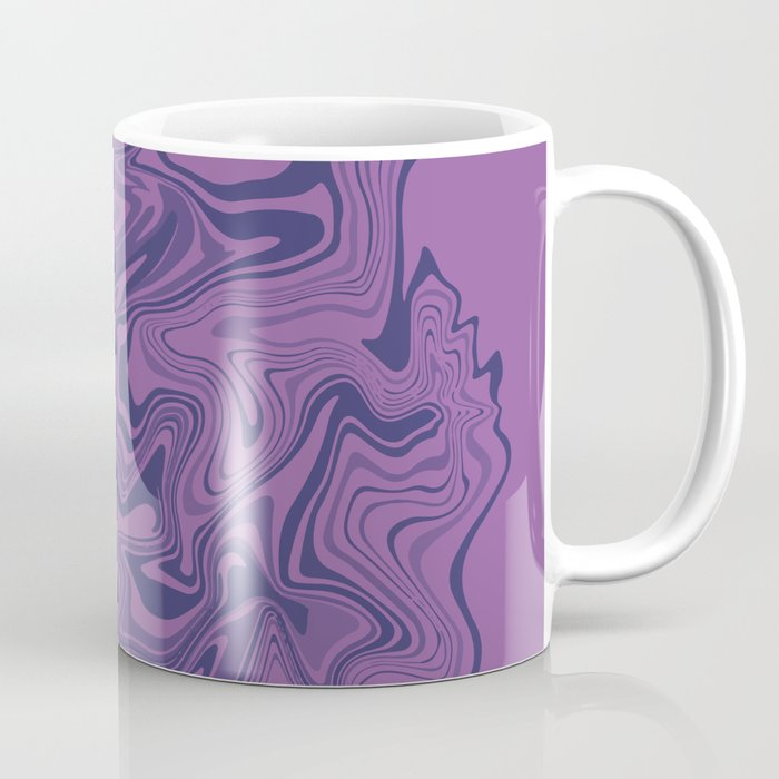 Two-toned purple Agate Coffee Mug
