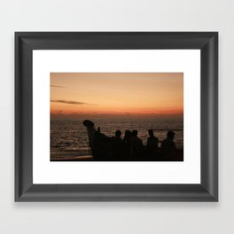 Off to sea Framed Art Print