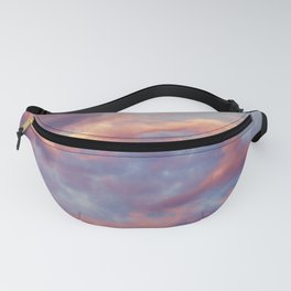 Pink Blue Sky Clouds Fanny Pack