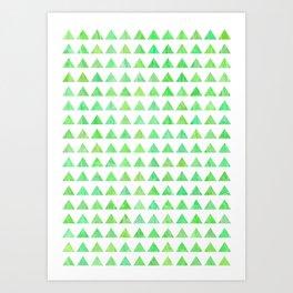 evergreen geometric pattern Art Print