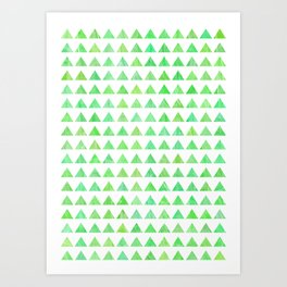 evergreen geometric pattern Art Print
