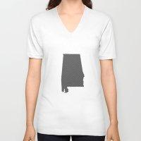 alabama V-neck T-shirts featuring Alabama Line by Beastie Toyz