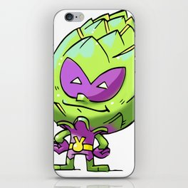 Artichoke Alien Foodietoon Veggie Superheroes iPhone Skin