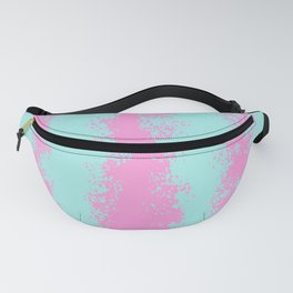 Modern abstract pink teal watercolor stripes Fanny Pack