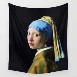 Jan Vermeer Girl With A Pearl Earring Baroque Art Wall Tapestry