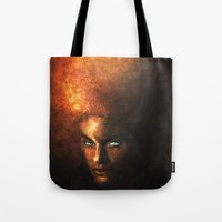 afro Tote Bags featuring AFRO by John Aslarona