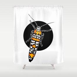 Ailanthus Webworm Moth (Atteva aurea)   BUGSPOTTING SERIES Shower Curtain