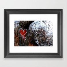Love Tree Framed Art Print