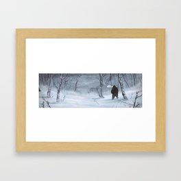 Frozen Road Framed Art Print