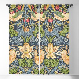 William Morris Strawberry Thief Restored Blackout Curtain
