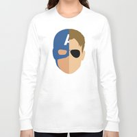 steve rogers Long Sleeve T-shirts featuring Captain Rogers by Nick Kemp