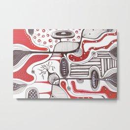 Abstract hand drawn idea design  Metal Print