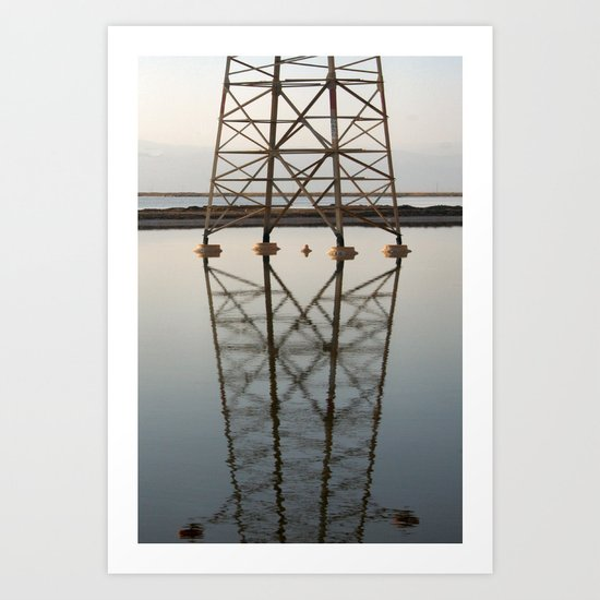 Electricity and Water Art Print