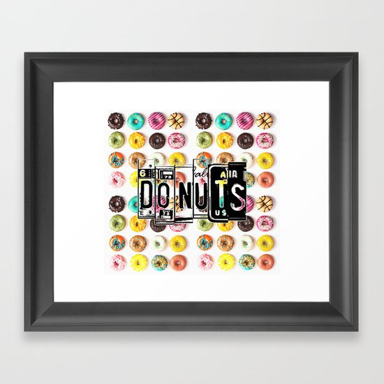 DONUTS Framed Art Print
