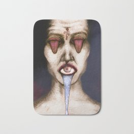 Tongue and eyes Bath Mat
