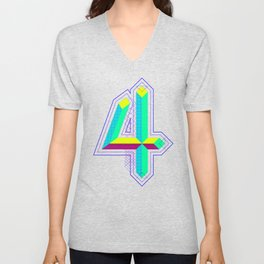 4 colors 4 the 4 Unisex V-Neck