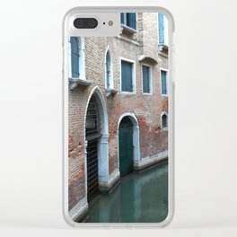 Venetian streets -canals .Carlo Galdoni Museum Clear iPhone Case