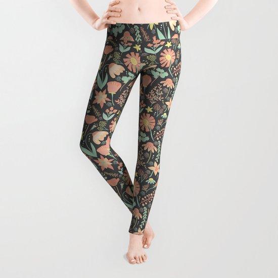 Peachy Keen Wildflowers Leggings