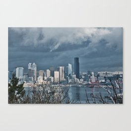 Seattle's shades of gray Canvas Print