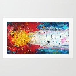 Colorado Abstract Flag #2 Art Print