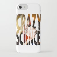 cosima iPhone & iPod Cases featuring Crazy Science by Monika Gross
