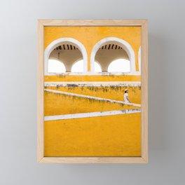 Colonial Mexico, Izamal in Yellow #buyart #society6 #decor Framed Mini Art Print
