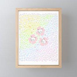 Pink Petal Kittens Framed Mini Art Print