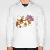 fall Hoodies featuring Critters: Fall Camping by Teagan White