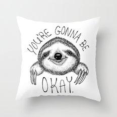 Slothspiration Throw Pillow