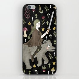 turnip warrior iPhone Skin