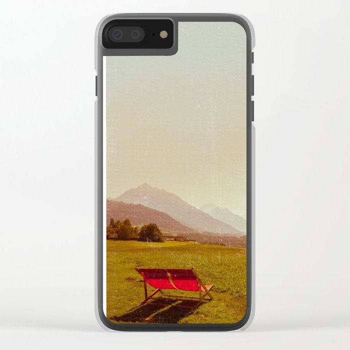 Vintage Holiday Clear iPhone Case