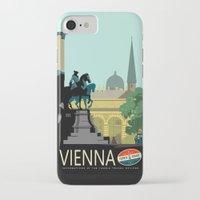 vienna iPhone & iPod Cases featuring Visit Vienna by Duke Dastardly