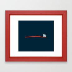 Whale Paste Framed Art Print