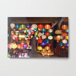 Colored lanterns Metal Print