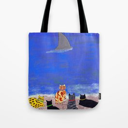 Cats on the Beach Tote Bag