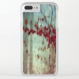 Fall Elegy Clear iPhone Case