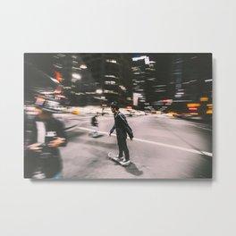 Skate in street 4 Metal Print