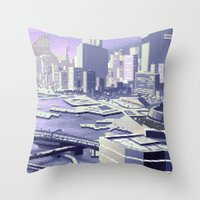 future Throw Pillows featuring Future by noirlac