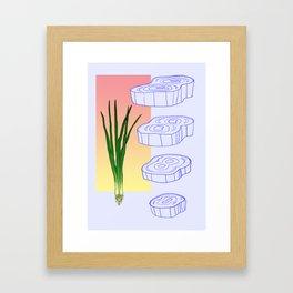 scallion cross section graphic Framed Art Print