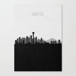 City Skylines: Seattle (Alternative) Canvas Print