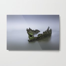 Ship Wreck Metal Print
