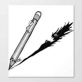 Mr. Pencil Canvas Print