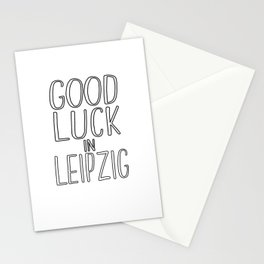 Good Luck In Leipzig Stationery Cards