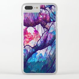 Colour tone peaks Clear iPhone Case
