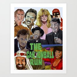 The Cannonball Run Art Print