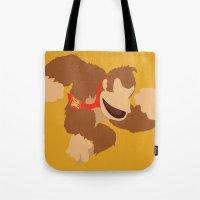 donkey kong Tote Bags featuring Donkey Kong(Smash) by ejgomez