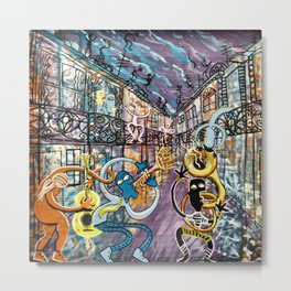 French Quarter Street Musicians Metal Print